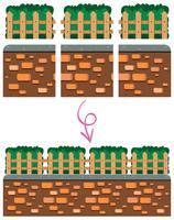 Verschillende hek illustratie