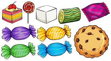 Set of candies vector