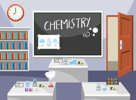 Interior of chemistry classroom