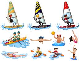 Set of water sports