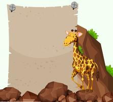 Paper template with giraffe