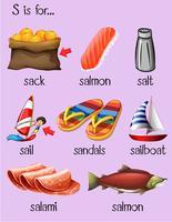 Palavras diferentes para a letra S