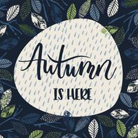 Autumn templates. Vector design for card, poster, flyer, web and other users.