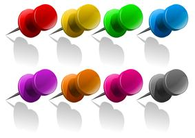 Pins in different colors