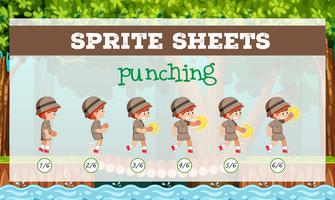 sprite sheet boy punzonatura