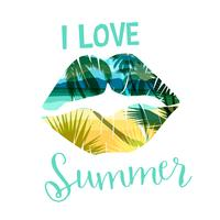Tropical beach summer print with slogan for t-shirts, posters, card and other uses.
