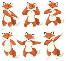Fox karaktär dans position
