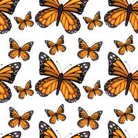 Seamless background design with butterflies