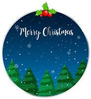 Frohe Weihnachten-Karte des Kreises