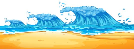 Ondas enormes na praia