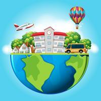 Gebouwen en vervoer op aarde