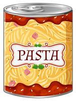 Italiaanse pasta in aluminium blik