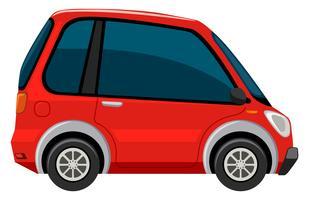 Ein Elektroauto auf weißem Hintergrund