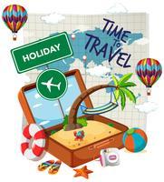 Zeit zum Reisen Vorlage
