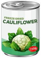 Een blik met Freese-Dries bloemkool