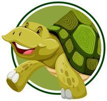 Schildkröte auf Aufkleberschablone