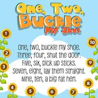 One two buckle my shoe song vector