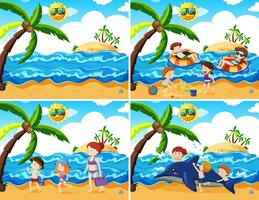 En uppsättning strandaktiviteter
