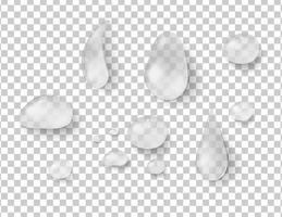 Different shapes of raindrops