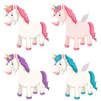 Set of different unicorn