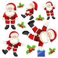 Set of different santas