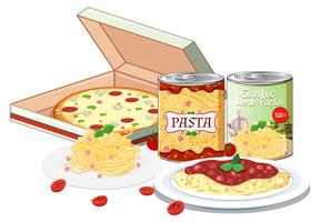 Fast Easy italian Meal vector