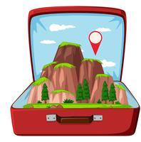 Montanha natureza na mala