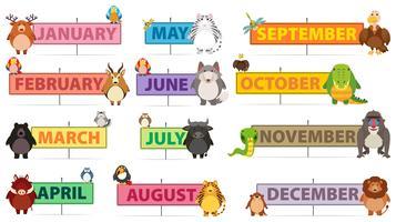 Maanden van een jaar banner