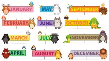 Months of a Year Banner
