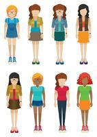 Sjabloon van meisjes zonder gezichten