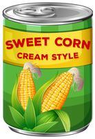 Una lata de crema de maíz dulce estilo