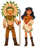 Zwei Indianer im Kostüm