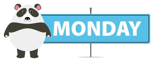 Panda e assinar para segunda-feira