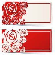 Label design with red roses vector