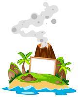 Leeres Brett auf der Insel