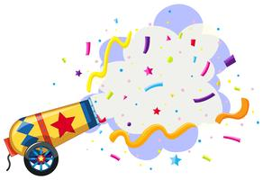 cannon exploding confetti background vector
