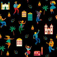 Festa Junina. Vector seamless pattern.