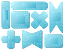 Blue plasters vector