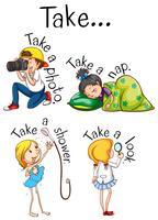 Diferentes escenas de acciones infantiles.