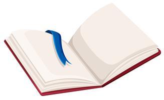 Un libro abierto en blanco