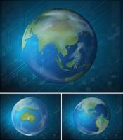 Poster design with planet earth