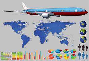 Infographik Flugzeug