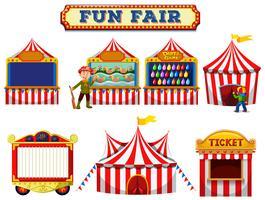 En uppsättning kul Fair Tent