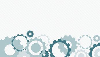 Background design with gray and blue gears