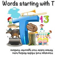 English words starting with the letter t