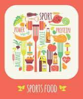 Vector illustration of Sports Food.