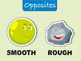 Opposite words for smooth and rough