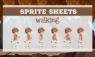 Sprite Sheet Boy zu Fuß