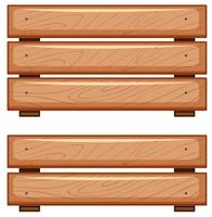 Planches de bois sur fond blanc