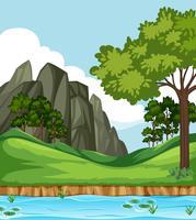 Prachtige natuur landschap-achtergrond